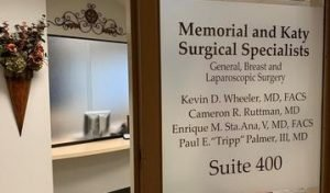 Memorial and Katy Surgical Specialists Front Door